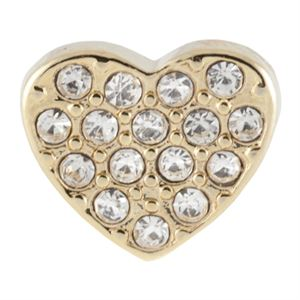 Picture of Crystal Gold Heart Charm