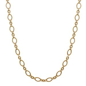 Picture of Alternating Textured Link Gold