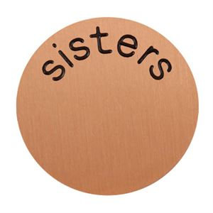 Picture of 'Sisters' Large Rose Gold Coin